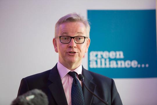 Michael Gove speaking at a Green Alliance event in 2017
